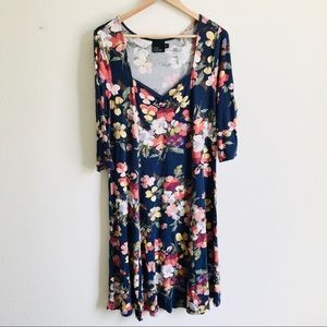 ASOS Curve Floral Dress Size 16